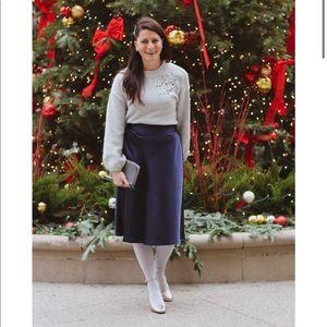 A New Day Blue Satin Skirt